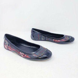 Coach Size 8 TRUE Tartan Plaid Ballet Flats Size 8